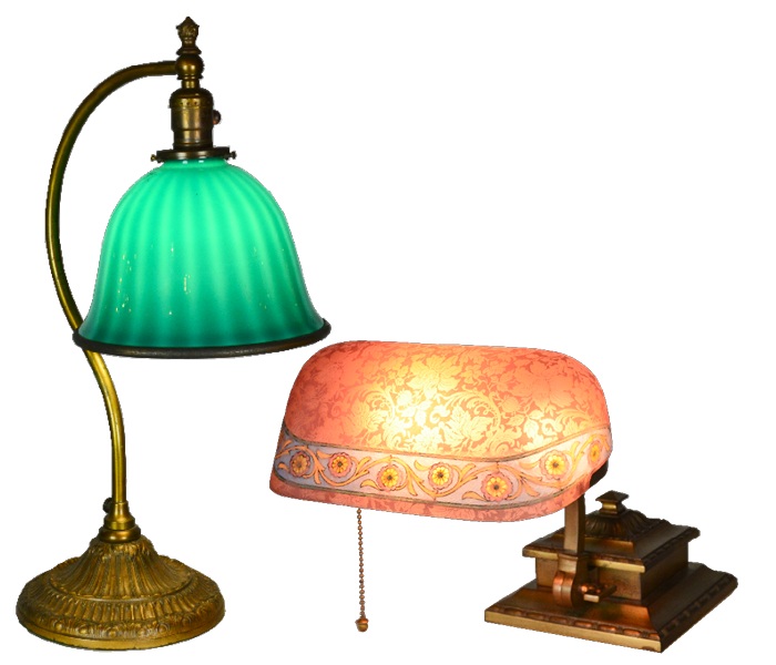 Bellova Lamp and Emeralite Antique Lamp| Vintage Lighting