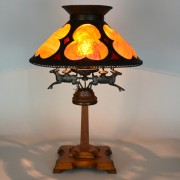 Arts and Crafts Turtle Back Vintage Lamp | Vintage Glass Lighting