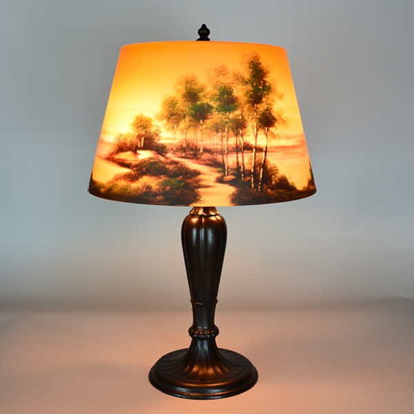 Jefferson with Scenery Vintage Lamp | Vintage Glass Lighting