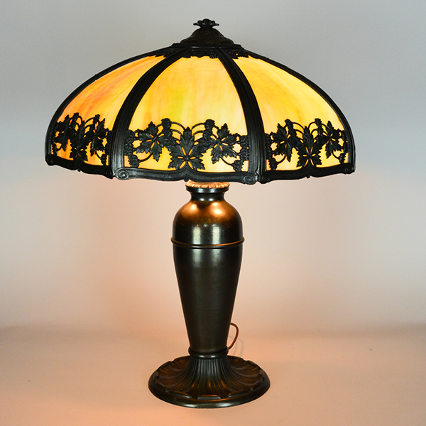 Unusual Glass Color Panel Lamp Vintage Lamp | Vintage Glass Lighting