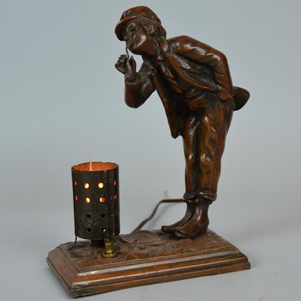 1910 Figural Lamp