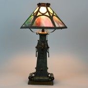 1920s panel lamp, original finish