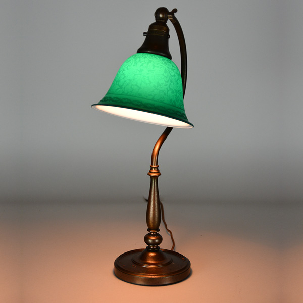 Bellova Acid Etched Desk Lamp cir. 1917