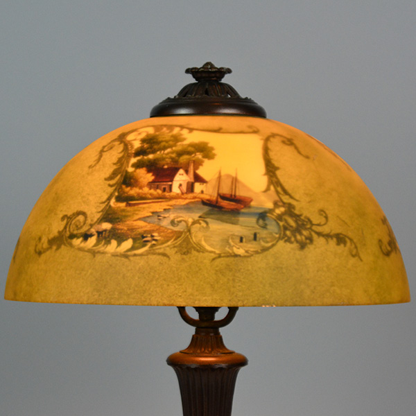 Jefferson reverse painted 14 inches - 4 sided painted lamp_2