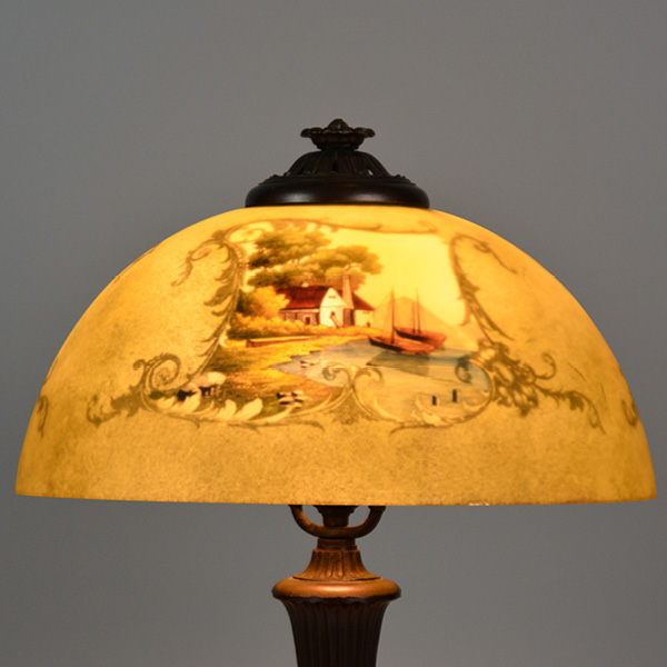 Jefferson reverse painted 14 inches - 4 sided painted lamp_4