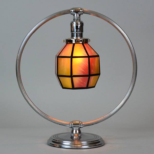 chase base circa 1930s with an art glass shade (full circle)