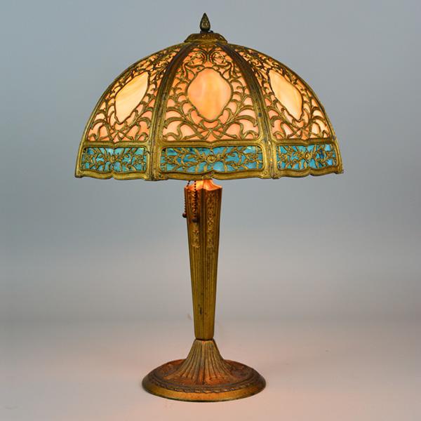 circa 1920s panel overlay lamp