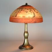 Wilkinson overlay 17 table lamp vintage glass lighting jefferson reverse painted 16in circa 1920 aloadofball Choice Image